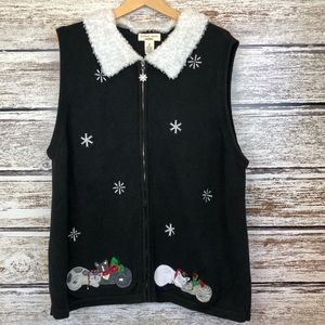 💝 Bechamel Christmas Sweater Vest Sleeping Cats